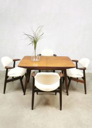 Vintage extendable dining table eetkamertafel Webe Louis van Teeffelen