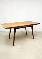 Dining table vintage extendable Dutch Webe design eettafel Louis van Teeffelen tafel