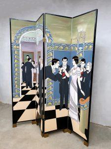 Vintage design roomdivider paravan kamerscherm ballroom