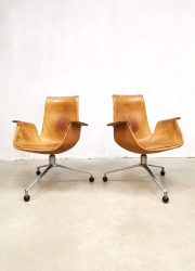 Sixties tripod Kill International vintage bureaustoel design office chair Preben Fabricius Jørgen Kastholm