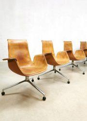 Office chair desk Preben Fabricius Jørgen Kastholm vintage design Kill International sixties bureaustoel