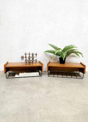 Vintage Danish design floating nightstands zwevende nachtkastjes