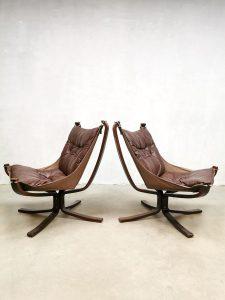 Vintage design Falcon chair lounge fauteuil Sigurd Ressell Vatne Mobler