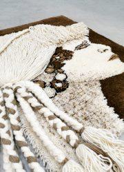 wall tapestry wandkleed wool knitted Desso studio tapijta