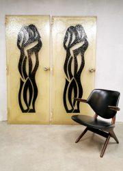 Midcentury design fiberglass doors art deuren 'lovers'