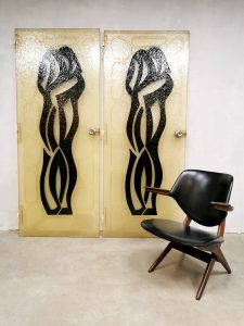 Midcentury design fiberglass doors art deuren 'lovers'