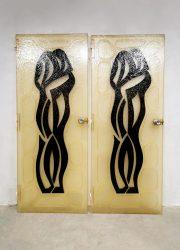 vintage design fiberglass doors art deuren midcentury