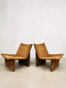 Vintage Dutch design easy chairs lounge fauteuils '70's minimalism'
