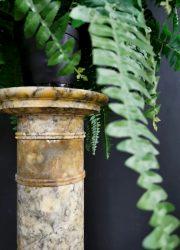Design Italian vintage pillar plant stand marble pilaar