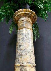 Vintage Italian marble pillar plant stand marmeren plantenstandaard pilaar
