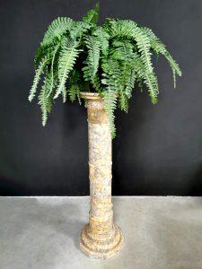 Marble pillar vintage Italian plantenstandaard pilaar plant stand zuil sokkel