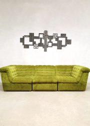 Vintage modular sofa modulaire bank 'botanical green'