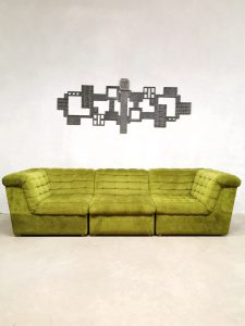 Vintage modular sofa modulaire bank 'botanical green'