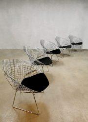 Vintage design Diamond wire chair draadstoel Harry Bertoia voor Knoll