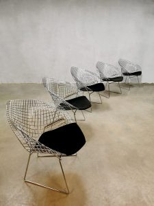 Vintage design Diamond wire chair draadstoel Harry Bertoia voor Knoll