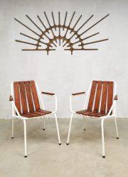 Daneline vintage outdoor garden chair tuinstoel midcentury vintage Danish lounge tuinstoel