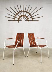 Outdoor Daneline vintage midcentury design Danish outdoor chair garden stoel sixties