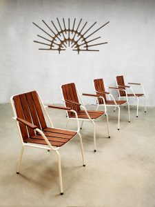 Midcentury Danish design garden chairs outdoor tuinstoelen Daneline