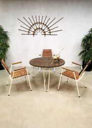 Midcentury design garden diningset chairs table outdoor tuinset Daneline Denmark