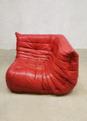 Michel Ducaroy French vintage design corner lounge Togo sofa leather hoek stoel bank Ligne Roset