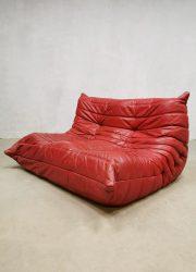 Midcentury vintage design two seater sofa Togo bank Ligne Roset