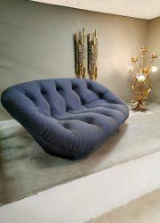 vintage sofa easy lounge bank blue
