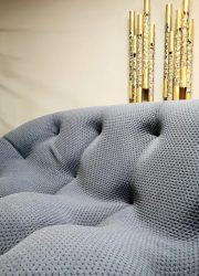 Unique design lounge sofa bank 'easy comfort' Jeans blue 2