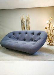 Unique design lounge sofa bank 'easy comfort' Jeans blue 3