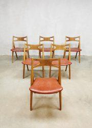 sawbuck dining chairs Hans J wegner