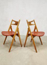 vintage Danish design sawbuck CH29 chairs Hans J Wegner