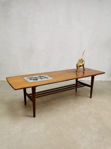 Vintage coffee table salontafel Louis van Teeffelen Webe Ravelli tile