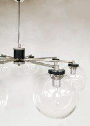 Vintage design glass chandelier pendant mad men style hanglamp