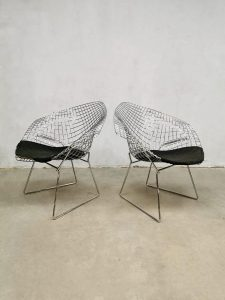 Vintage design diamond wire chair draadstoel Harry Bertoia Knoll