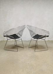 Sixties diamond wire chair draadstoel vintage Bertoia Knoll design