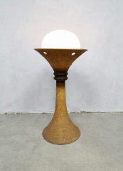 German design seventies vintage floorlamp Doria Leuchten vloerlamp keramisch