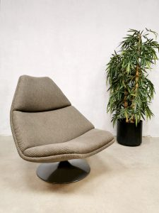 Swivel chair Artifort vintage design Geoffrey Harcourt draaifauteuil model F588 lounge fauteuil