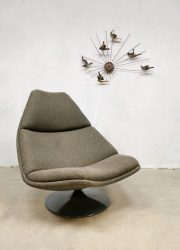 Vintage design swivel chair draaifauteuil Artifort Geoffrey Harcourt F588