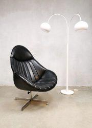 Vintage Dutch design swivel chair fdraaiauteuil Rudolf Wolf Rohe