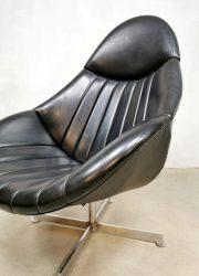Dutch vintage swivel chair Rudolf Wolf mad men stijl