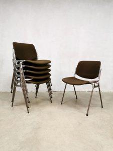 Vintage dinner chairs eetkamer stoelen Giancarlo Piretti Castelli