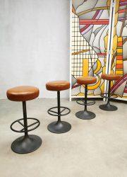 Swedish vintage industrial bar stools barkrukken Borje Johanson