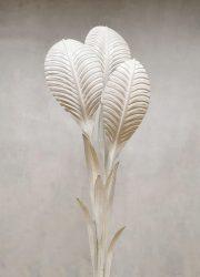 seventies vintage design flower floor lamp leaves Hans Kogl