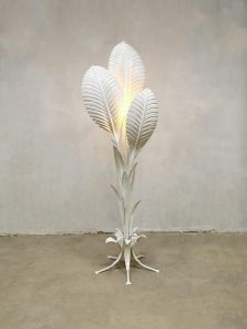 seventies vintage design flower floor lamp leaves Hans Kogl