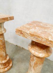 Italiaanse pilaar marmer plantenstandaard marble column antique