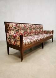 Antique dining sofa eetkamer bank French wood antiek jaren 50 fifties bench