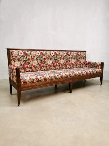 Antique French dining sofa bench eetkamer bank 'flower power'