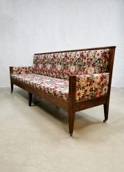 Antieke bank antique French sofa bench eetkamer fifties jaren 50 dining midcentury