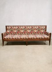 Midcentury antique French dining sofa bench eetkamer bank 'flower power'