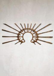 Vintage wall art sculpture wanddecoratie sunset art Italian
