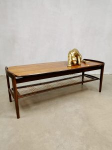 Midcentury Dutch design coffee table salontafel 'airy webbing'